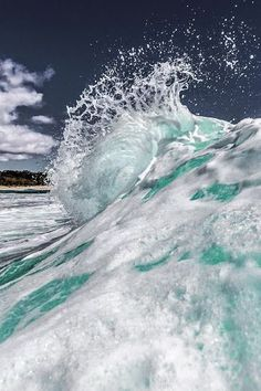 The Dope Surf Society® Ocean photography. No Wave, Water Waves, Sea Waves, Sea And Ocean, Ocean Beach, Beautiful Ocean, Beautiful World, Photos Voyages, Ocean Photography