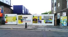 Deptford Project Hoardings designed by Studio Raw