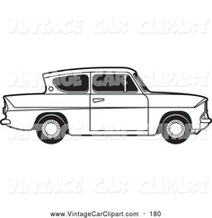 Royalty free clipart of a old fashioned vintage black and white ford anglia car with tinted windows. This car stock vintage car image was designed and digitally rendered by Lal Perera. Vintage Black, Vintage Cars, Ford Anglia, Car Drawings, Car Images, Oil Pastels, Wood Work, Old Cars, Art Oil