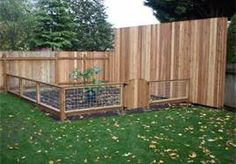 Love this garden idea attached to the privacy fence
