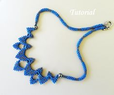 PDF for Sydney Necklace Beading Tutorial - beaded seed bead jewelry - beadweaving beading pattern