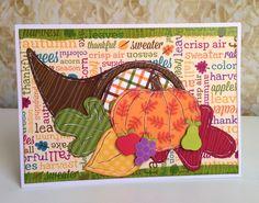 Cornucopia card by Gail Owens for @kiwilane  using Kiwi Lane templates and Doodlebug Designs paper
