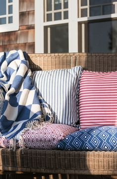 Graphic Shams and Throws from Lexington Company Spring 2015 Collection.