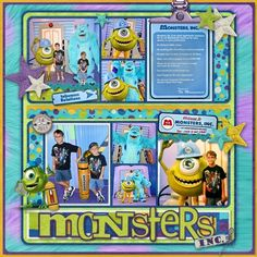 Monsters Inc. 2 - MouseScrappers - Disney Scrapbooking Gallery