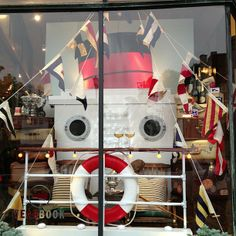 Nautical theme, summer window display