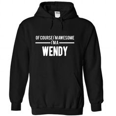 WENDY-the-awesome - #tshirt feminina #white hoodie. LIMITED TIME PRICE => https://www.sunfrog.com/LifeStyle/WENDY-the-awesome-Black-74623037-Hoodie.html?68278