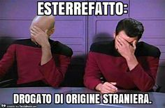 Meme: Because star trek is awesome. Stupid Funny, Funny Cute, Funny Images, Funny Pictures, Italian Memes, Crazy People, Pranks, Really Funny, Haha