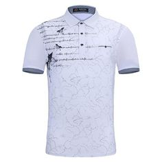 Home Slim Fit Clothing Polo Shirts Letter Print Polo Short Sleeve Polo Tee Shirt Polo Tee Shirts, Polo Outfit, Printed Shirts, Casual Shirts, Shirt Designs, Polo Ralph Lauren, Men Casual, Chef Jackets, Mens Tops