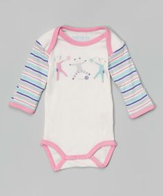 Look at this #zulilyfind! Pink Scrappy Cat Organic Bodysuit - Infant by Under the Nile #zulilyfinds