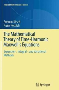 Applied partial differential equations 4th edition 9780130652430 the mathematical theory of time harmonic maxwells equations expansion integral fandeluxe