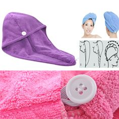 Microfiber High Quality Hair Towels/Turban Solid Absorbent Turbie Twist Wrap MMY #MMY