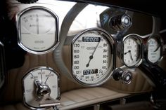 Delage D8S Roadster Gauges