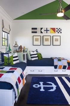 Get inspired by Coastal Kids' Bedroom Design photo by AGK Design Studio. Wayfair lets you find the designer products in the photo and get ideas from thousands of other Coastal Kids' Bedroom Design photos. Bedroom Themes, Kids Bedroom, Bedroom Ideas, Kids Rooms, Boys Nautical Bedroom, Bedroom Small, Trendy Bedroom, Bedroom Beach, Small Rooms