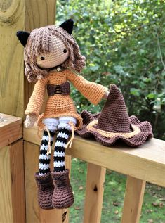 Jinx the Cat Crochet Doll Pattern / Amigurumi / Photo Tutorial by SleepySheepPatterns on Etsy https://www.etsy.com/listing/547609738/jinx-the-cat-crochet-doll-pattern