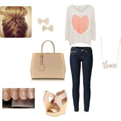 A fashion look from April 2013 featuring oversized sweaters, blue jeans und platform sandals. Browse and shop related looks. Blue Jeans, Platform, Fashion Looks, Sweaters, Polyvore, Outfits, Shopping, Clothes, Suits