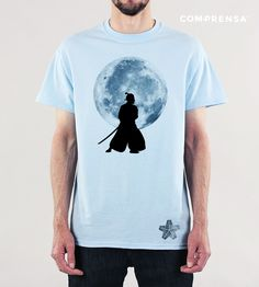 """T-shirt made in Com- Prensa designed by us, exclusive design, you can use for your order.  Cotton t-shirt with a print """"Samurai Warrior"""" featuring a round neck and short sleeves.  #manufacturer #barcelos #colours#tshirt #cotton #comprensa #fashion #model #fashion #design #company #textile #portugal #sublimation #screenprinting #digitalprint #laser #photoprint"""