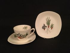 Offered for sale is a Midwinter Stylecraft PLANT LIFE Tea Trio designed by Terence Conran. This trio is in excellent condition and comes with no chips, no cracks, no crazing and no restoration. Appropriate Dimensions: Tea cup 7 cms tall Tea saucer 14.5 cms across Side plate 16 cms across No reserve auction. Buy with confidence. Money back guarantee. Ready for dispatch from the UK   eBay!