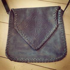 Blue cross body purse $10