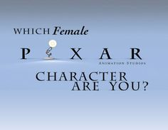What Female Pixar Character Are You? - Quiz - Zimbio ~  I'm Joy. You're bubbling with happiness and sunshine. Positivity is basically your middle name, and you always look on the bright side. Keeping people happy is quite literally your job.