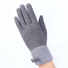 Loyal Christmas Xmas Fashion Womens Ladies Bowknot Thermal Lined Touch Screen Cotton Gloves Winter Warm Black Gray Red Back To Search Resultsapparel Accessories
