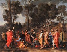 L'ordre - 1636 - Nicolas POUSSIN Pour symboliser l'Ordre, Poussin nous montre le Christ remettant les clefs à saint Pierre Tout en s'inspirant de Raphaël, Poussin s'attache à individualiser chacun des participants à la scène et à varier leurs attitudes et leurs expressions