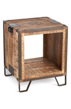Indigo Imports Open Center Wood Side Table