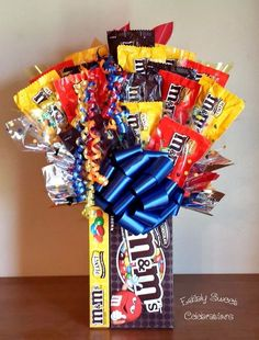 M&M lover candy bouquet