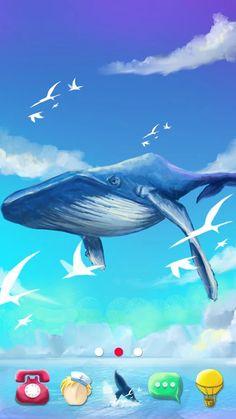 Sky Whale GO Launcher Theme: captura de tela