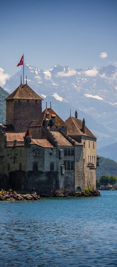 Chillon Castle, Lake Geneva, Switzerland