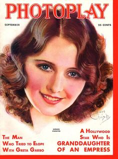 Photoplay, September 1931. Featuring Barbara Stanwyck, painted by Earl Christy.