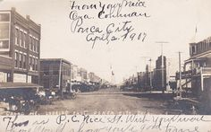 RP: PONCA CITY, Oklahoma, PU-1907; Grand Avenue [dirt], Looking East