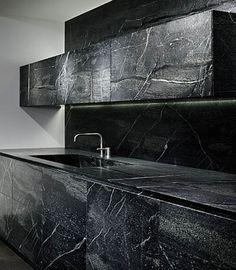 soapstone by eggersmann - incredible natural stone clad kitchen