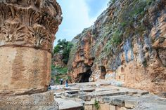 """An hour drive north of the Sea of Galilee is Caesarea Philippi, also known as Banias. Here you can view the remnants of the Temple of Pan. It was here that Jesus asked His disciples, """"Who do men say that I am?"""""""