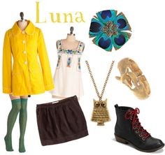 Outfits inspired by Luna Lovegood's style in Harry Potter and the Deathly Hallows Part 1