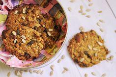 Make-Life-Green: Owsiane ciasteczka z bakaliami (wegańskie, bez glutenu, cukru, jajek, mleka i masła)