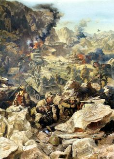 Soviet convoy ambushed by the Mujahideens. Soviet-Afghan War