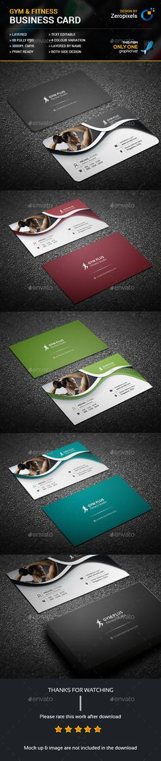 Fitness Business Card — Photoshop PSD #green #diet • Available here → https://graphicriver.net/item/fitness-business-card/17469318?ref=pxcr