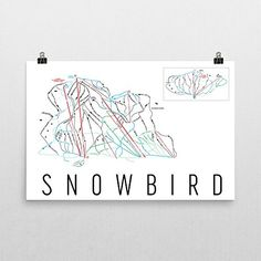 Snowbird Poster Snowbird Ski Resort Poster Snowbird Art Print Snowbird Trail Map Snowbird Trail Map Art Snowbird Wall Art Poster Snowbird Florida Gift  Size 24 x 36 * Click image for more details.Note:It is affiliate link to Amazon.