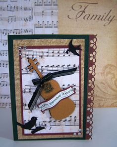 Sons Birthday Card Music Lover Cards For Men Greeting Homemade