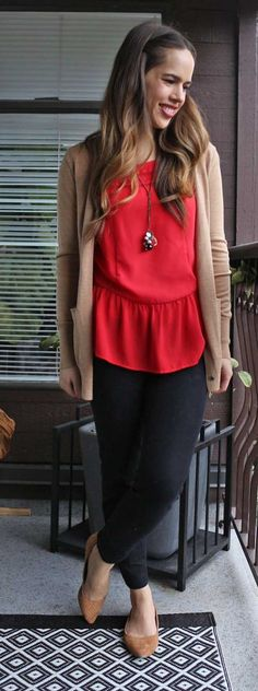 Jules in Flats - Red