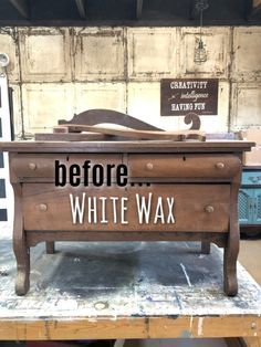 How To Easily Apply White Wax On Wood Furniture, diy furniture redo, Painting Wood Furniture White, Raw Wood Furniture, Diy Furniture Redo, Refurbished Furniture, Repurposed Furniture, Furniture Projects, Furniture Plans, Modern Furniture, Waxing Painted Furniture