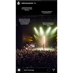 @sabrinacarpenter Instagram story
