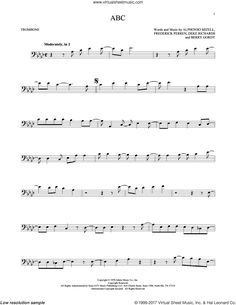 5 - ABC sheet music for trombone solo [PDF-interactive] Digital Sheet Music, Trombone Sheet Music, Berry Gordy, Kenny Loggins, Glenn Frey, Jackson 5, Soloing, Dolly Parton