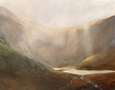 Light over Llyn Idwal, an original oil painting by Rob Piercy