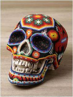 Amazing Huichol Beaded Skulls - The Beading Gem's Journal