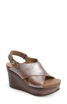 OTBT+'Blue+Hill'+Wedge+Sandal+(Women)+available+at+#Nordstrom  @wpn maybe this is a more practical metallic?
