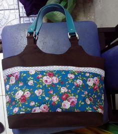 cotton mix canvas handbag