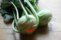 31 Things To Do with CSA Vegetables (very useful! and I love the mean face on the kohlrabi...LOL).