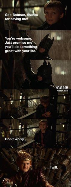 Batman saved King Joffrey