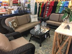 NCI/Chicago Wicker - Charleston Sofa seating. Loveseat, Lounge Chair, Swivel Lounge Chair, Coffee and End tables available as add-ons.